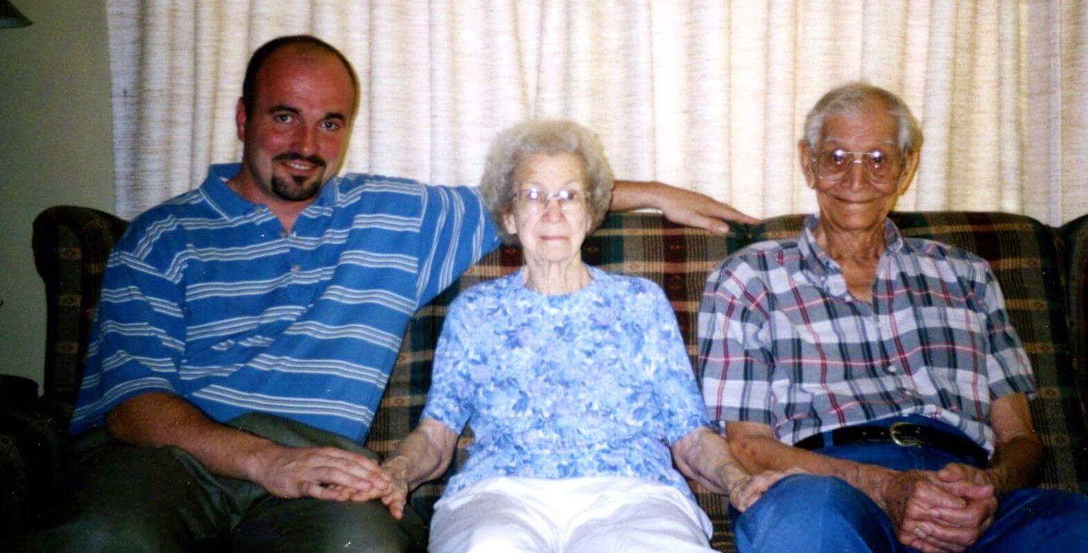 Jason with Grandma and Gramps (Ken & Hazel Hobbs)