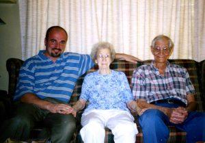 Jason with Grandma and Gramps (Hazel & Ken Hobbs)