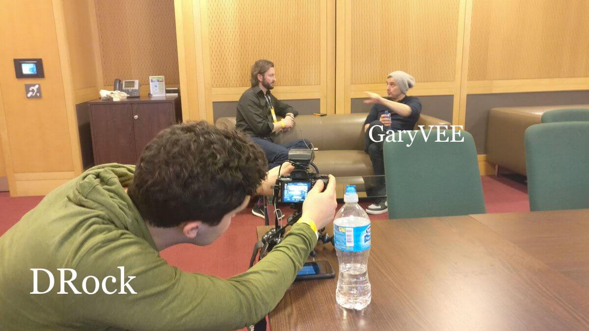 DRock Filming GaryVee